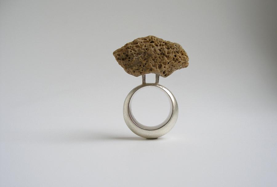 Ring Silber, Fundstein
