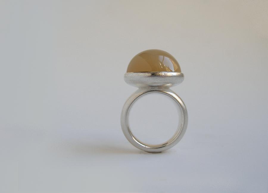 Ring Silber, Mondstein